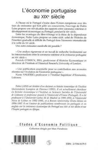 4eme L'ÉCONOMIE PORTUGAISE AU XIXe SIÈCLE