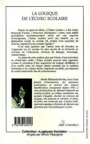 4eme LA LOGIQUE DE L'ÉCHEC SCOLAIRE