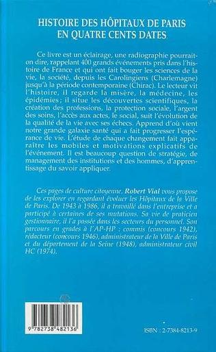 4eme Histoire des hôpitaux de Paris en quatre cents dates