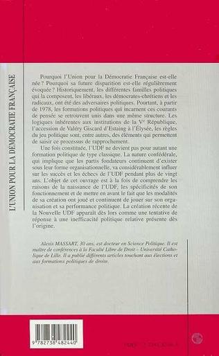 4eme L'UNION POUR LA DÉMOCRATIE FRANÇAISE (UDF)