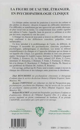 4eme LA FIGURE DE L'AUTRE , ÉTRANGER, EN PSYCHOPATHOLOGIE CLINIQUE