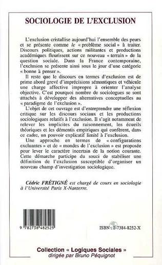 4eme SOCIOLOGIE DE L'EXCLUSION
