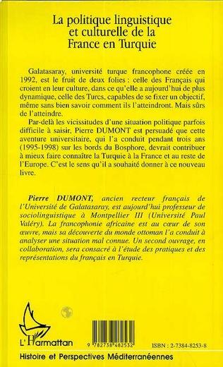 4eme LA POLITIQUE LINGUISTIQUE ET CULTURELLE DE LA FRANCE EN TURQUIE