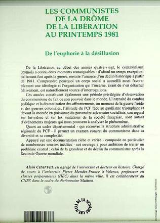 4eme LES COMMUNISTES DE LA DROME DE LA LIBERATION AU PRINTEMPS 1981