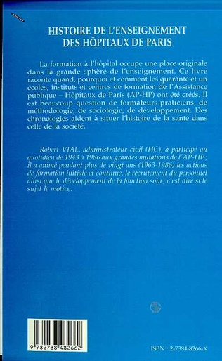 4eme HISTOIRE DE L'ENSEIGNEMENT DES HOPITAUX DE PARIS