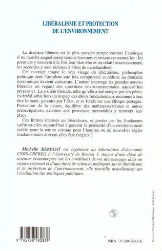 4eme LIBERALISME ET PROTECTION DE L'ENVIRONNEMENT