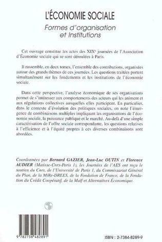 4eme L'ECONOMIE SOCIALE
