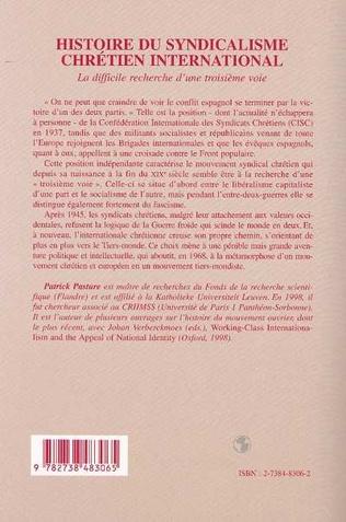 4eme HISTOIRE DU SYNDICALISME CHRETIEN INTERNATIONAL