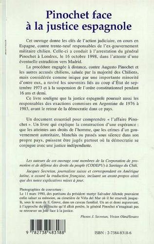 4eme PINOCHET FACE À LA JUSTICE ESPAGNOLE
