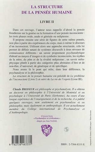 4eme LA STRUCTURE DE LA PENSEE HUMAINE