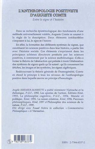 4eme ANTHROPOLOGIE POSITIVISTE D'AUGUSTE COMTE