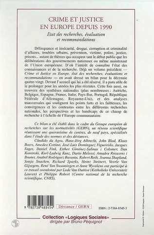 4eme CRIME ET JUSTICE EN EUROPE DEPUIS 1990