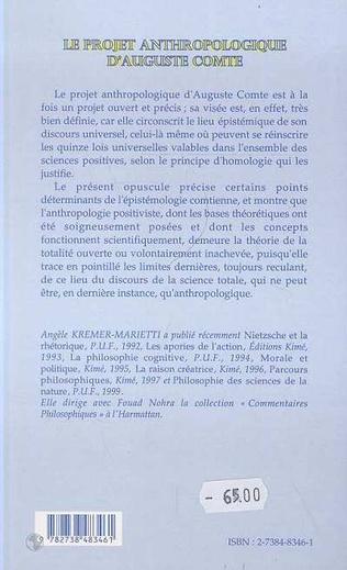 4eme LE PROJET ANTHROPOLOGIQUE D'AUGUSTE COMTE
