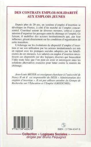 4eme CONTRATS (DES) EMPLOI-SOLIDARITE AUX EMPLOIS JEUNES