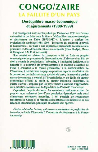 4eme CONGO/ZAÏRE LA FAILLITE D'UN PAYS (n° 37-38)