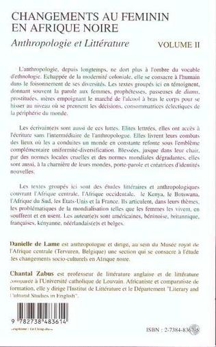 4eme CHANGEMENTS AU FEMININ EN AFRIQUE NOIRE