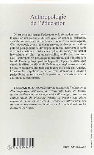 4eme ANTHROPOLOGIE DE L'ÉDUCATION