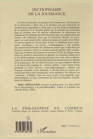 4eme DICTIONNAIRE DE LA JOUISSANCE