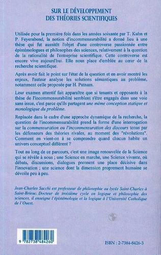 4eme SUR LE DEVELOPPEMENT DES THEORIES SCIENTIFIQUES