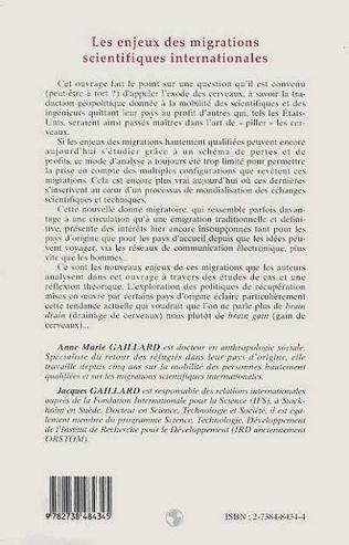 4eme LES ENJEUX DES MIGRATIONS SCIENTIFIQUES INTERNATIONALES