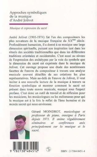 4eme APPROCHES SYMBOLIQUES DE LA MUSIQUE D'ANDRÉ JOLIVET