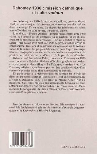 4eme DAHOMEY 1930 : MISSION CATHOLIQUE ET CULTE VODOUN