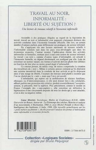 4eme TRAVAIL AU NOIR, INFORMALITE : LIBERTE OU SUJETION ?