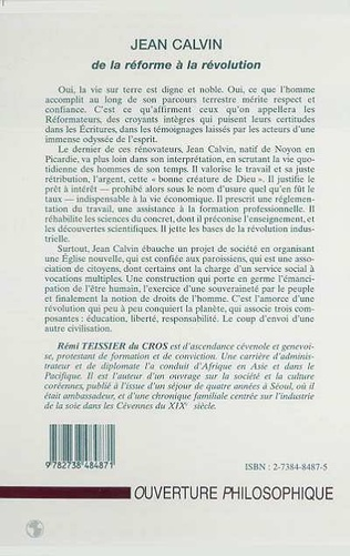 4eme JEAN CALVIN DE LA REFORME A LA REVOLUTION