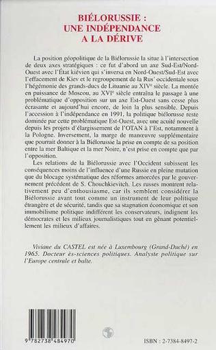 4eme LA BIELORUSSIE : UNE INDEPENDANCE A LA DERIVE
