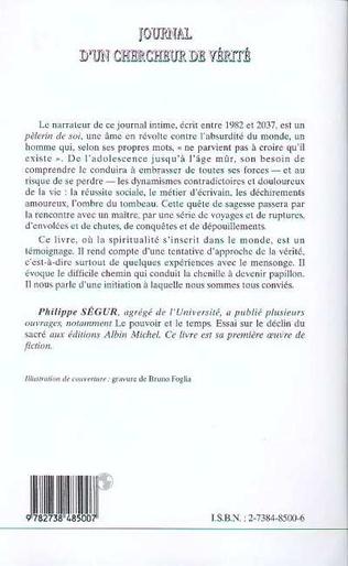4eme JOURNAL D'UN CHERCHEUR DE VERITE