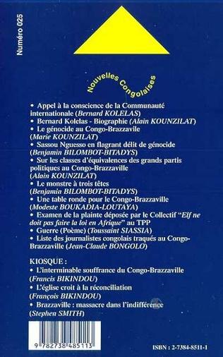 4eme LE GENOCIDE AU CONGO-BRAZZAVILLE