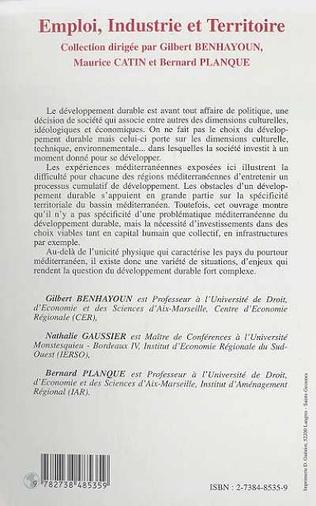 4eme ECONOMIE DES RÉGIONS MÉDITERRANÉENNES ET DÉVELOPPEMENT DURABLE