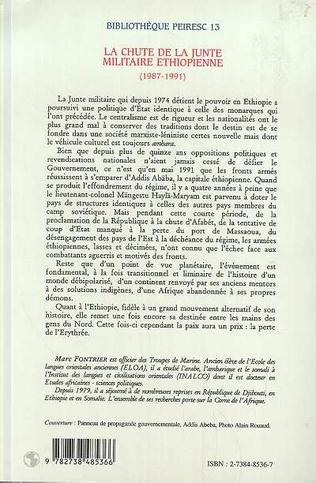 4eme LA CHUTE DE LA JUNTE MILITAIRE ETHIOPIENNE (1987-1991)
