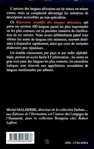 4eme REPERTOIRE SIMPLIFIE DES LANGUES AFRICAINES