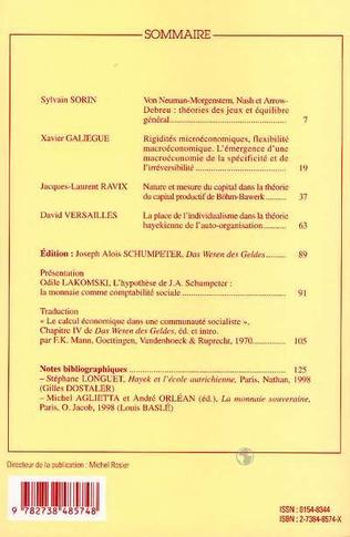 4eme Cahiers d'économie politique n°35