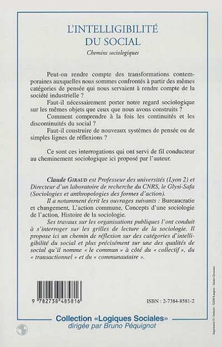 4eme L'INTELLIGIBILITE DU SOCIAL