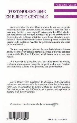 4eme (POST) MODERNISME EN EUROPE CENTRALE