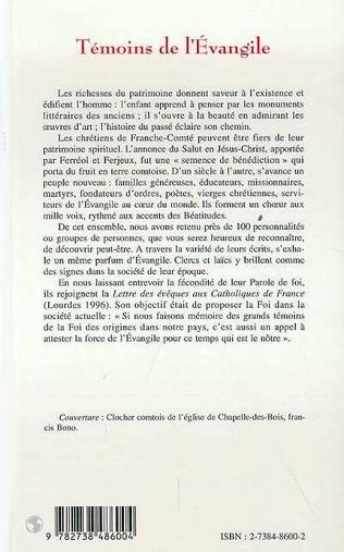 4eme TÉMOINS DE L'ÉVANGILE