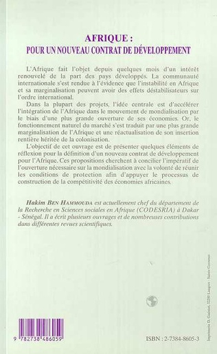 4eme AFRIQUE : POUR UN NOUVEAU CONTRAT DE DEVELOPPEMENT