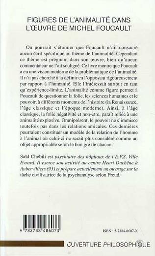 4eme FIGURES DE L'ANIMALITE DANS L'ŒUVRE DE MICHEL FOUCAULT