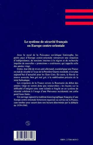 4eme LE SYSTEME DE SECURITE FRANCAIS EN EUROPE CENTRE-ORIENTALE