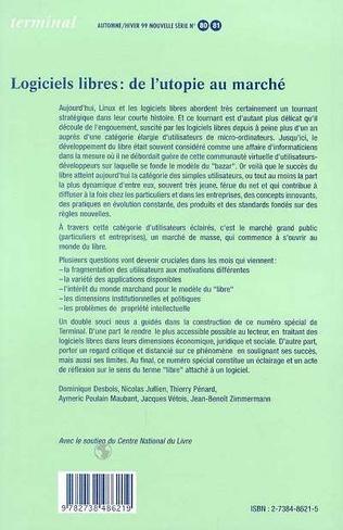 4eme LOGICIELS LIBRES : DE L'UTOPIE AU MARCHE (n°80/81)