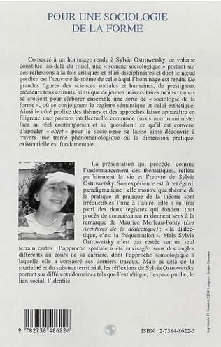 4eme POUR UNE SOCIOLOGIE DE LA FORME