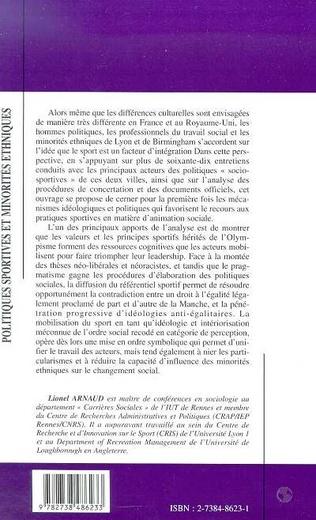 4eme POLITIQUES SPORTIVES ET MINORITES ETHNIQUES