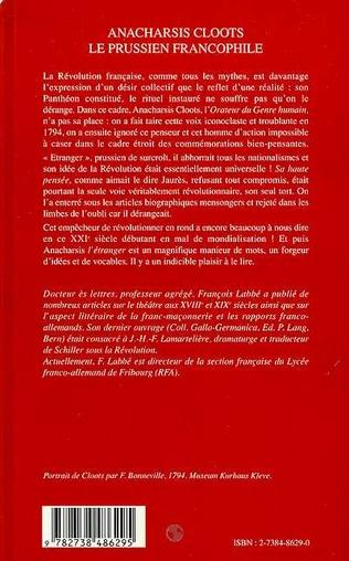4eme ANACHARSIS CLOOTS LE PRUSSIEN FRANCOPHILE