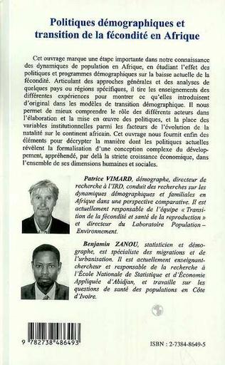 4eme POLITIQUES DEMOGRAPHIQUES ET TRANSITION DE LA FECONDITE EN AFRIQUE