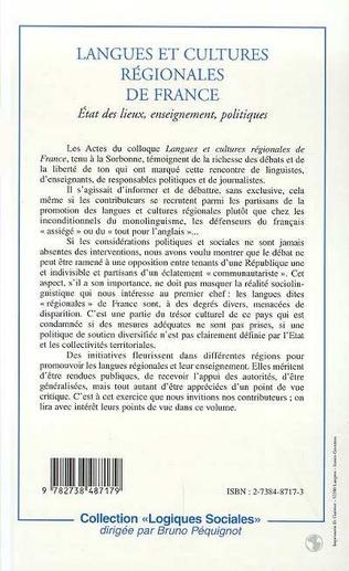 4eme LANGUES ET CULTURES REGIONALES DE FRANCE
