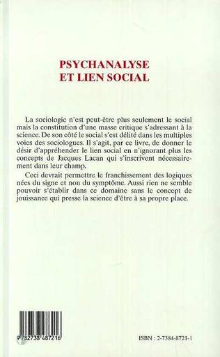 4eme PSYCHANALYSE ET LIEN SOCIAL
