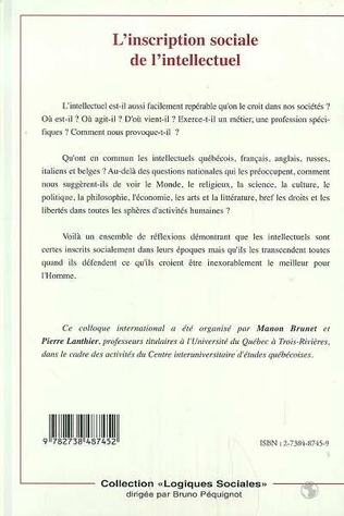 4eme L'INSCRIPTION SOCIALE DE L'INTELLECTUEL