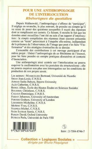 4eme POUR UNE ANTHROPOLOGIE DE L'INTERLOCUTION
